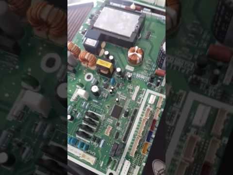 Daikin alarme E7 reparação placa simples