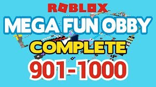 ROBLOX - MEGA FUN OBBY COMPLETED - Étape 901-1000 (Workthrough)