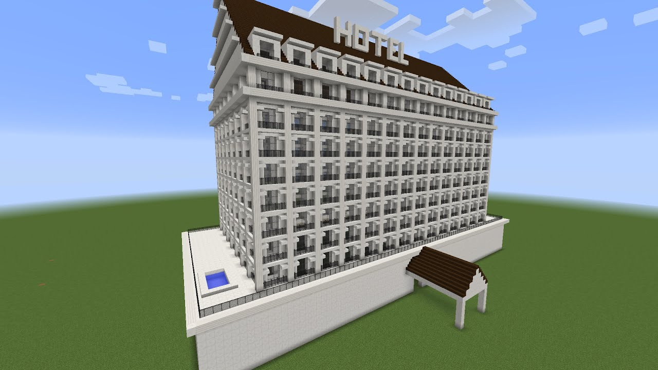 how to build the biggest hotel in minecraft