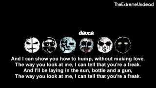Обложка Hollywood Undead Bottle And A Gun Lyrics Video OLD VERSION