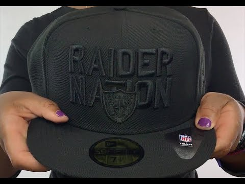 sale retailer cdba4 cee56 Raiders  RAIDER-NATION BLACKOUT  Fitted Hat by New Era