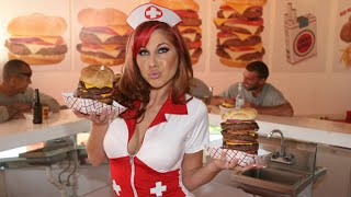 Eating The Heart Attack Grill Quadruple ByPass Burger (9,982 Calories) | Furious Pete 2017 Video