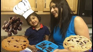 Kids Fun Baking Cookies and Choclate with Sefu Play Time