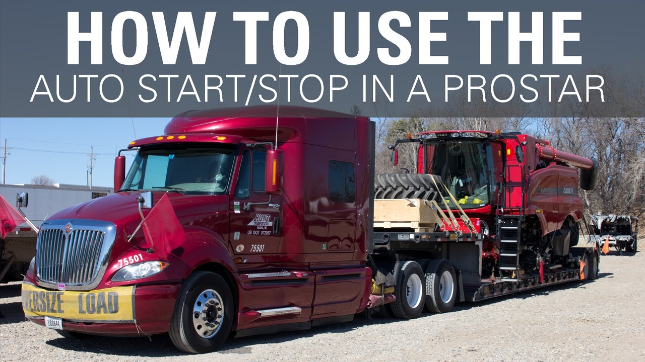 How to use the Auto Start/Stop in an International ProStar