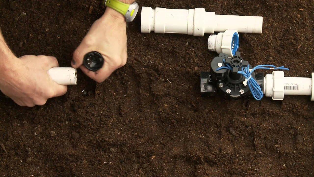 How To Repair PVC Sprinkler Pipe; Glueless Adapter & Slide ...