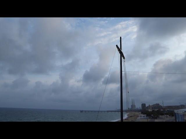 Arribada d'una situació de llevant portadora d'aiguats - Badalona - Setembre 2019
