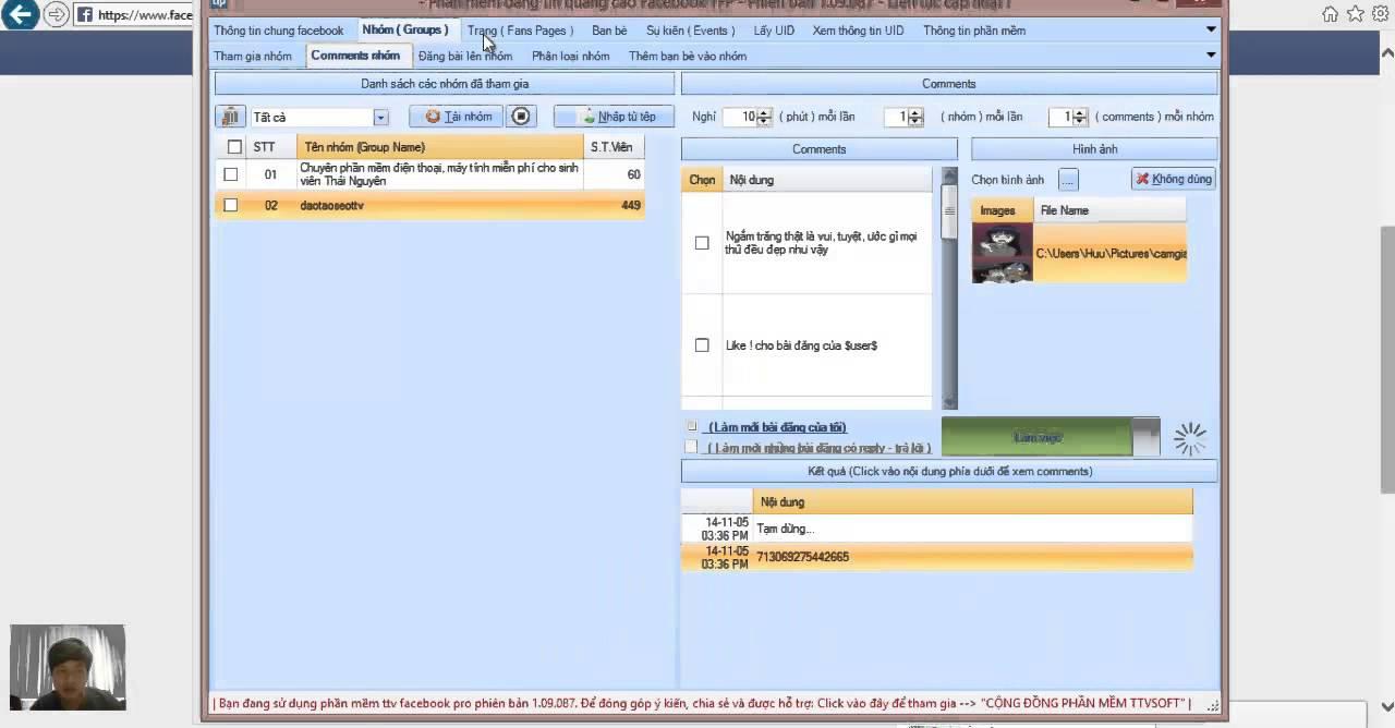 Hướng dẫn sử dụng soft đăng tin Facebook miễn phí TFP