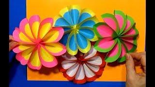 Подарки МАМЕ Сделать Своими Руками/Разноцветные Цветы из бумаги цветной Поделки День Матери/8марта/