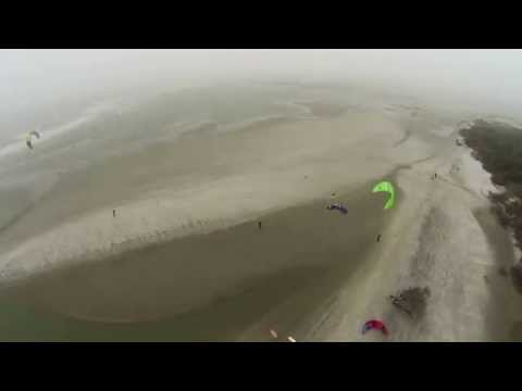 Folly Beach Drone - Kitesurfing the County Park - GoPro - DJI Phantom