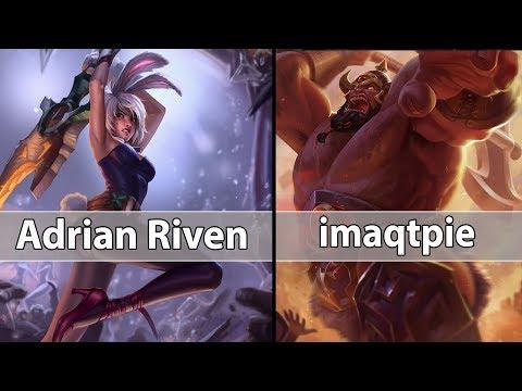 [ Adrian Riven ] Riven vs Sion [ imaqtpie ] Top - Adrian Riven Challenger soloq