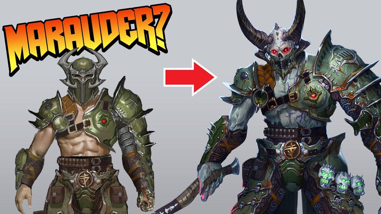 Doom Eternal Lore Who Is The Marauder Youtube