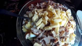 Праздничный Рецепт Салата из Пекинской Капусты.The Chinese cabbage salad.