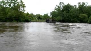 Irene Smithville Dam, Smithville, New Jersey along Rancocas Creek.