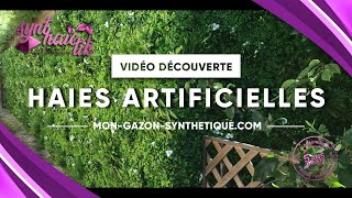 Vidéo: Feuillage artificiel laurier cerise à 34.95TTC/m²
