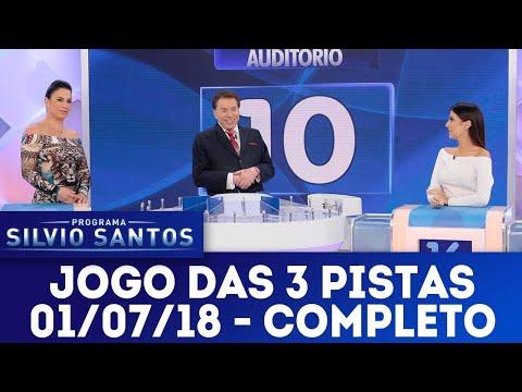 Jogo das 3 pistas com Débora Rodrigues x Nah Cardoso | Programa Silvio Santos (01/07/18)