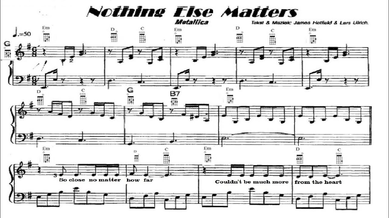 Nothing else matters music ukulele chords youtube nothing else matters music ukulele chords hexwebz Image collections