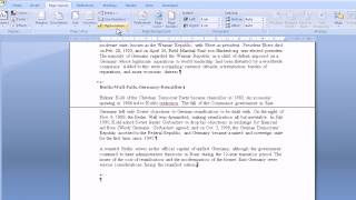 Microsoft Word 2007 Headers and Section Breaks