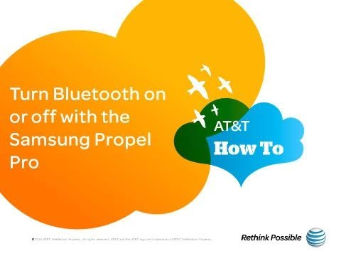 Turn Bluetooth on or off with the Samsung Propel Pro: AT&T How To Video Series