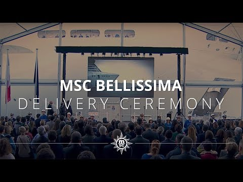 MSC Bellissima's Delivery Ceremony