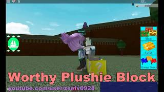 [Build A Boat For Treasure] Worthy Plushie Block   A plushie was hidden in the game 02