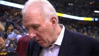 Gregg Popovich with only one word after 1st Q ECF GM3 (PO 2013)