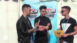 Union J interview with Buddybounce TV at Fusion Festival 2014 & play a game of Squiggle!