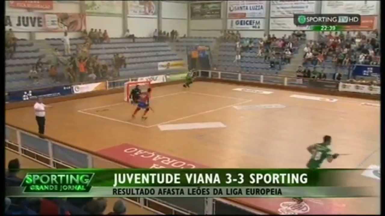 Hoquei Patins :: 26J :: Juv. Viana - 3 x Sporting - 3 de 2014/2015