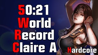 [Speedrun World Record] Claire A Hardcore 50:21 Resident Evil 2 Remake | 120FPS