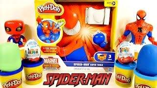 play doh spider man super tools kinder surprise marvel superhero playdough eggs disney cars toy club
