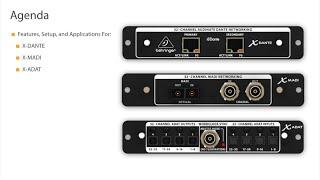 X32 Expansion Cards Webinar: X-DANTE, X-MADI, X-ADAT