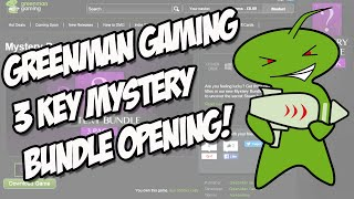 GreenMan Gaming 3 Key Mystery Bundle opening!!
