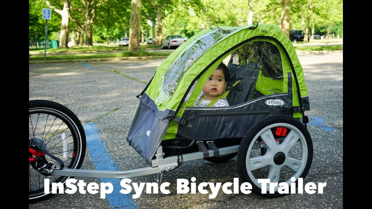 Instep Sync Bicycle Trailer Review Attached To A Folding Bike