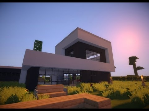 minecraft modern house 9 modernes haus hd doovi. Black Bedroom Furniture Sets. Home Design Ideas