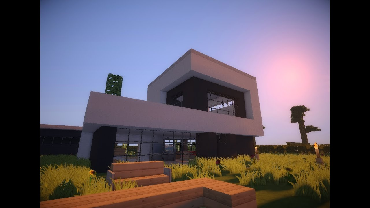 Minecraft modern house 8 modernes haus hd youtube for Modern house mc