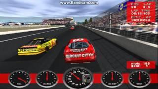 NASCAR Revolution PC Race #26 Gameplay (Hut Stricklin) (Atlanta) (9 Laps)