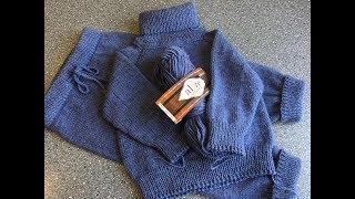 Анонс. Детский свитер спицами.
