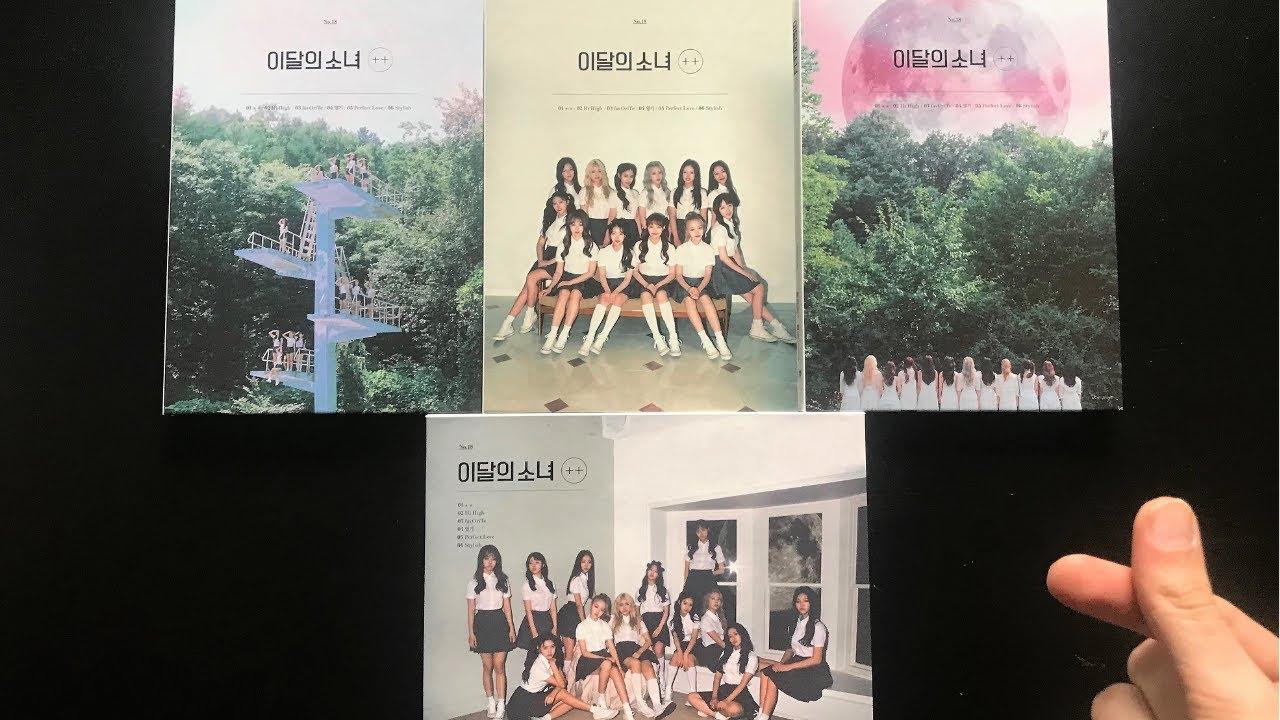 Unboxing – LOONA 이달의 소녀 [+ +] 1st Mini Album (All Versions + 4 Posters) | Ψ