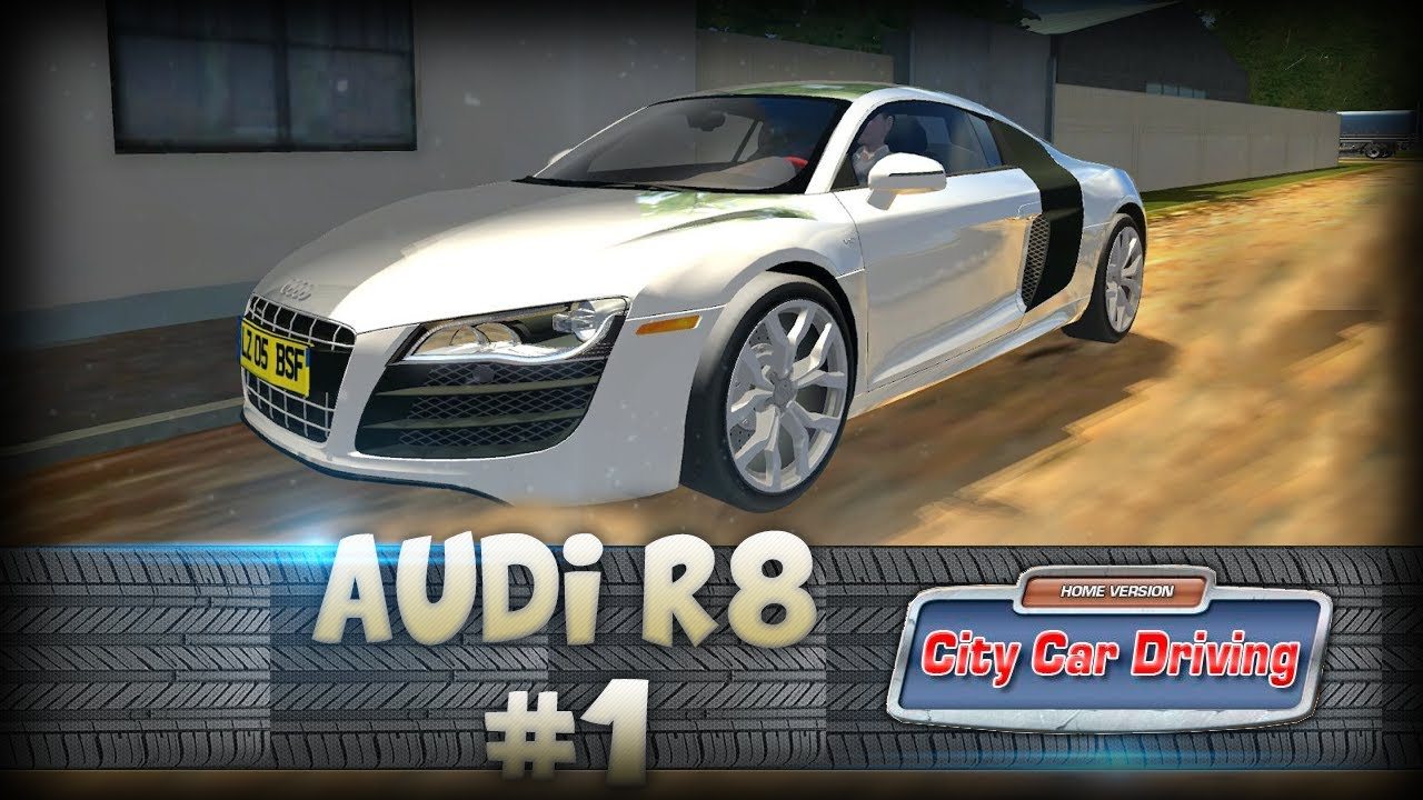 g27 audi r8 v10 acceleration top speed city car driving 1080p