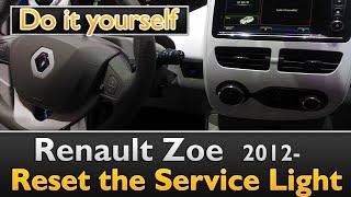 Renault Zoe Service light reset