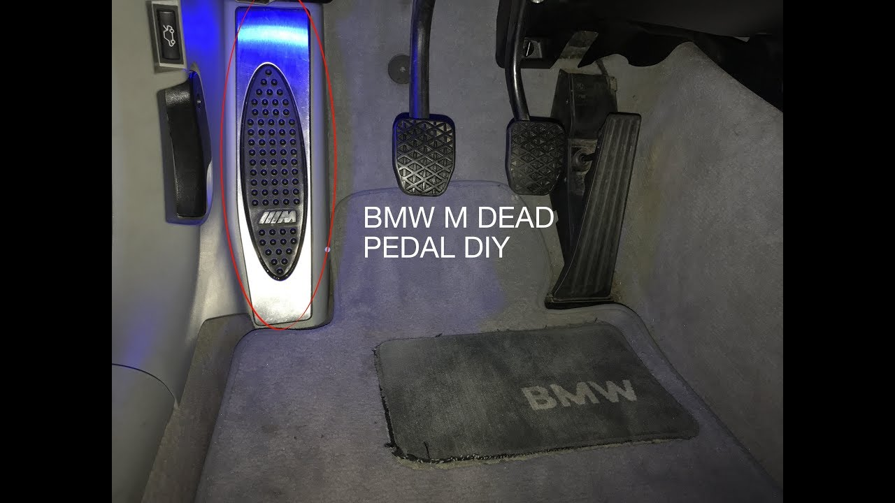 New BMW 7 Series >> BMW e46 m3 Dead Pedal Install - YouTube