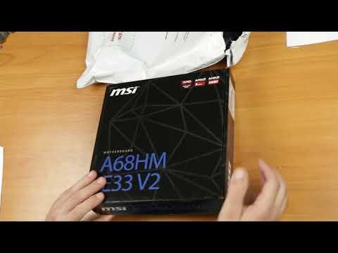 Материнская плата MSI A68HM-E33 V2 (sFM2+, AMD A68H, PCI-Ex16)