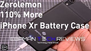 Extend your iPhone Xr Battery by 110% with the ZeroLemon Battery Case
