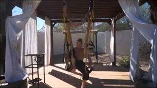 zero gravity gym s creator yogi zen demos key stretching done with ease in the air