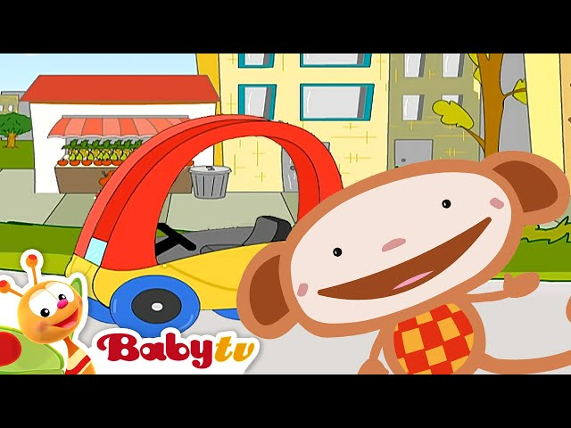 Oliver probeert het juiste wiel voor zijn auto te vinden- BabyTV Nederlands