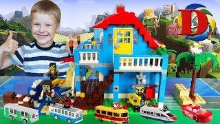 Городской транспорт игрушки и Поезда для детей / МИР МАЙНКРАФТ / MINECRAFT WORLD / САМОДЕЛКА