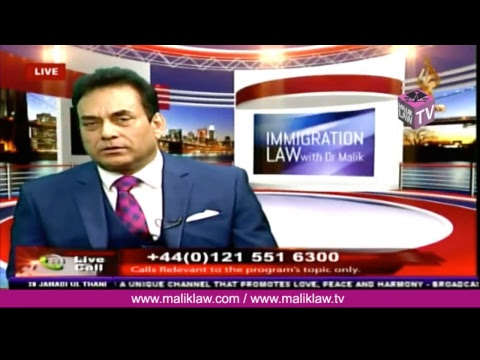 Noor TVs Immigration Law with Dr Malik  17 March  2018