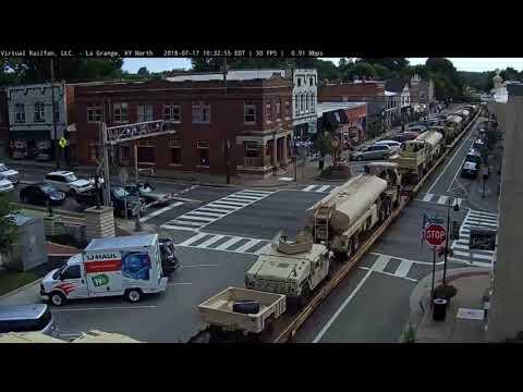 Army Transport through La Grange