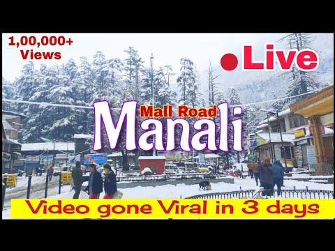 MANALI Live Today | Manali Mall Road | Snowfall