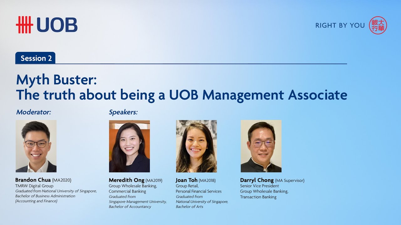 Download Myth Buster: The truth about being a UOB Management Associate