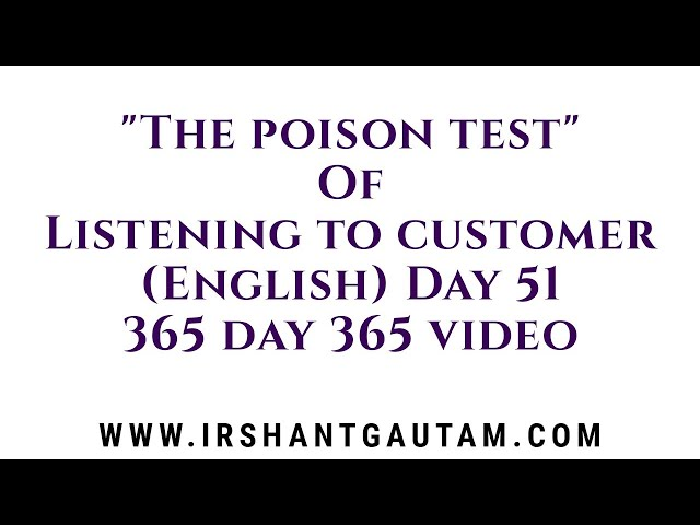 How to give right solution to your customer by Irshant Gautam. Day 51
